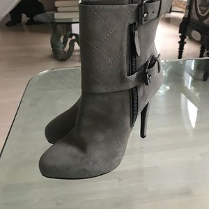 All saints suede taupe bootie